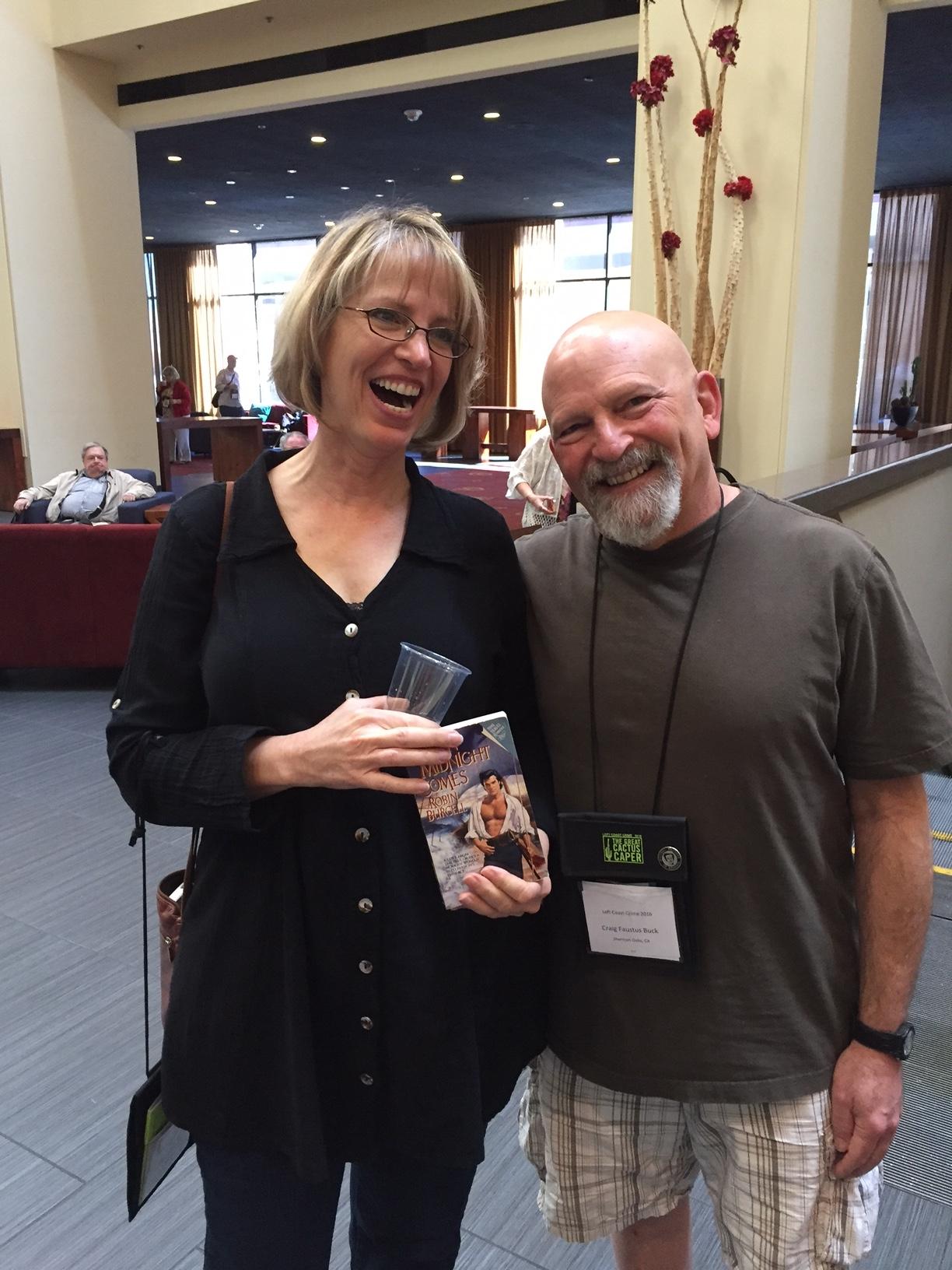 IBrash authors Robin Burcell and Craig Faustus Buck at Left Coast Crime 2016